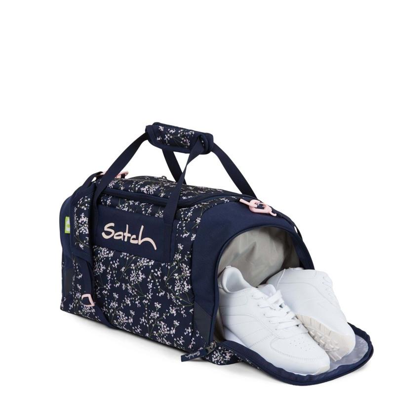 Satch Sportstaske Blå m/blomst 2