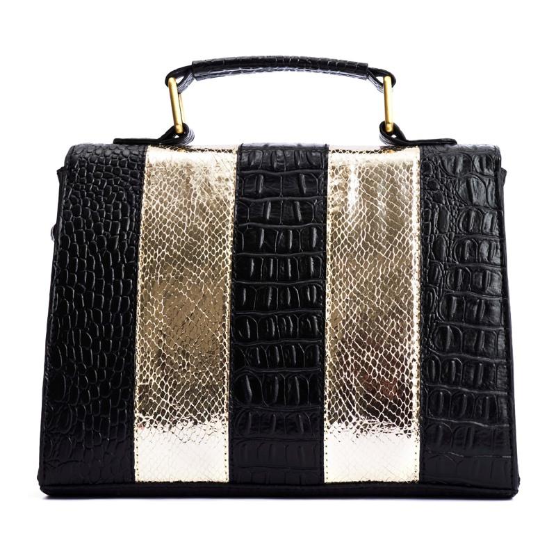 Håndtaske Guld/sort 2