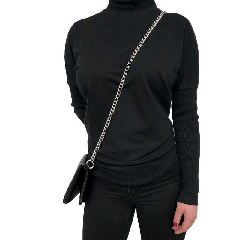 Noir Desire Taskekæde Curb 115 cm Sølv 2
