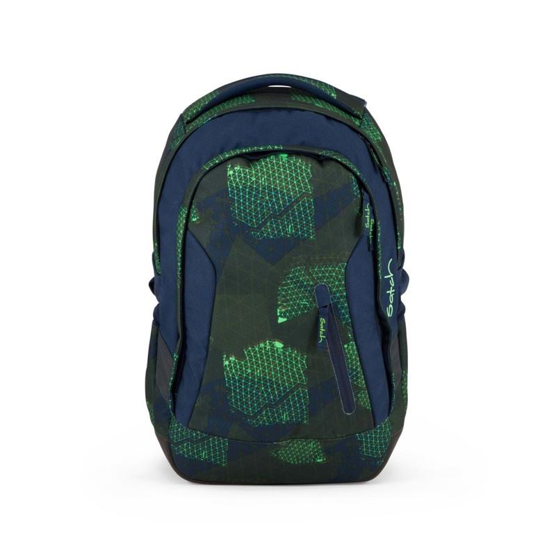Satch Skoletaske Sleek Blå/Grøn 1
