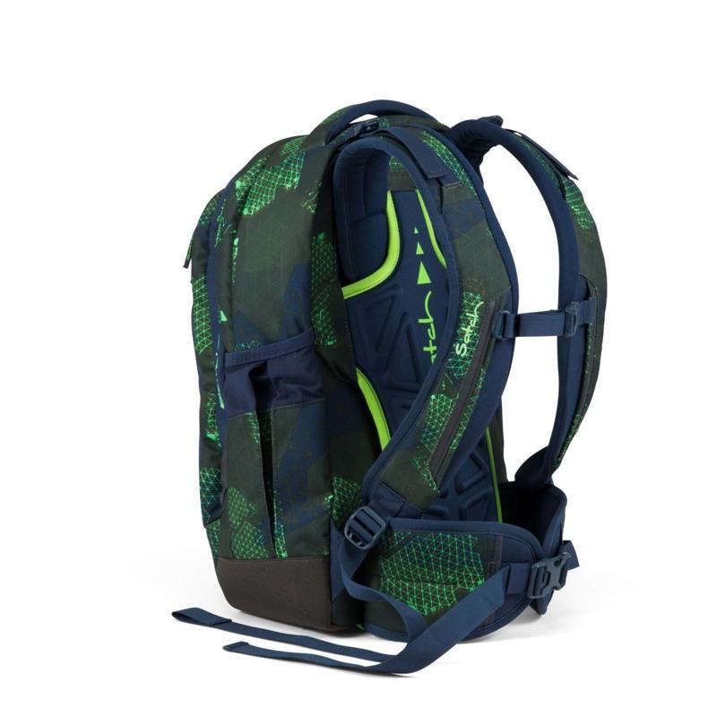 Satch Skoletaske Sleek Blå/Grøn 4