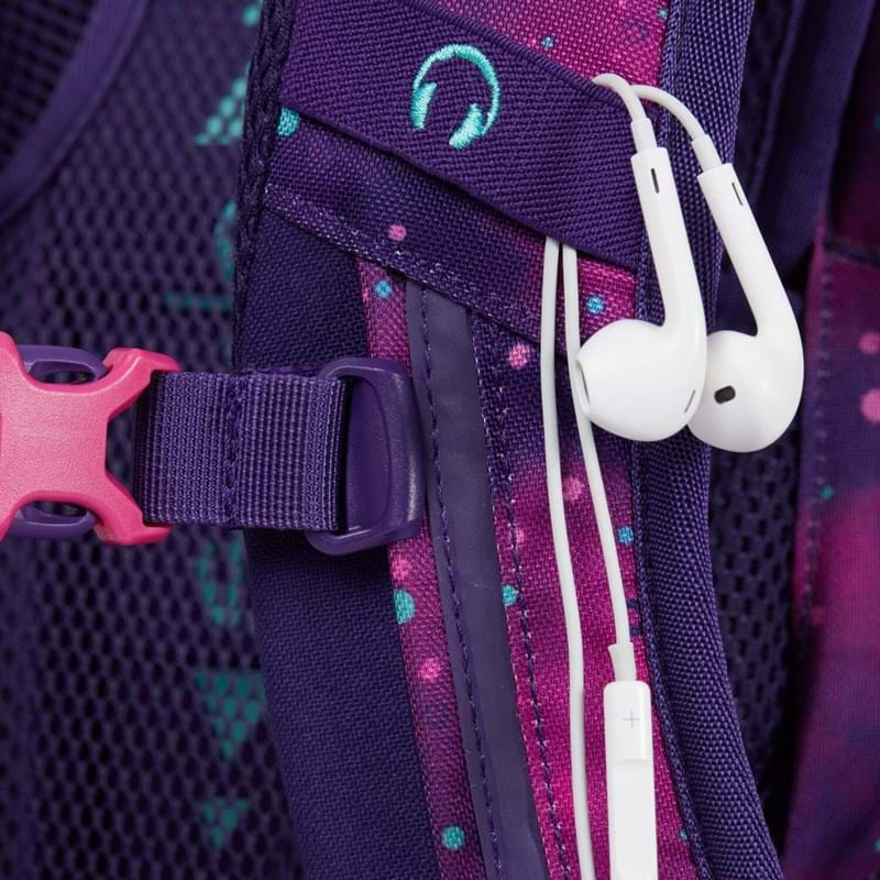Satch Skoletaske Sleek Lilla/pink 8