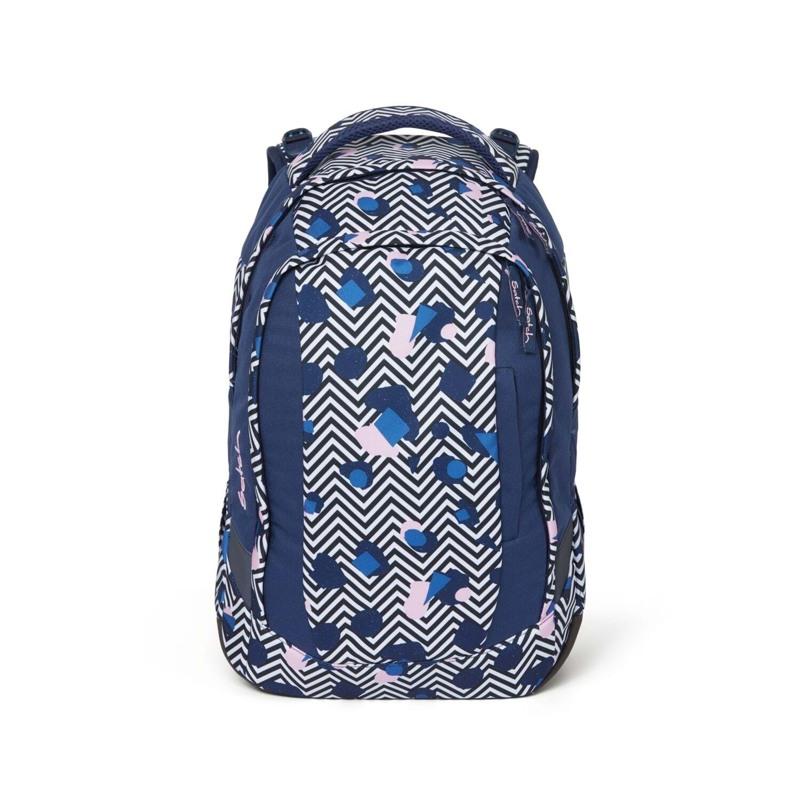 Satch Skoletaske Sleek Blå/mønster 1