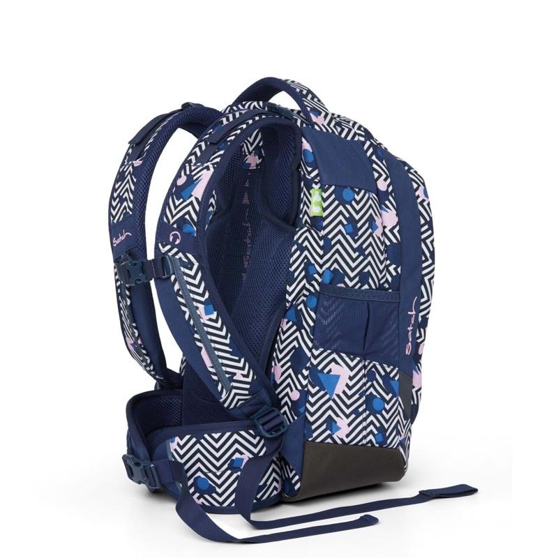 Satch Skoletaske Sleek Blå/mønster 4