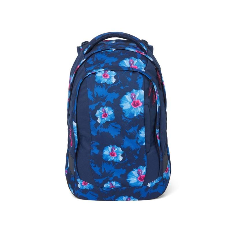 Satch Skoletaske Sleek Blå m/blomst 1