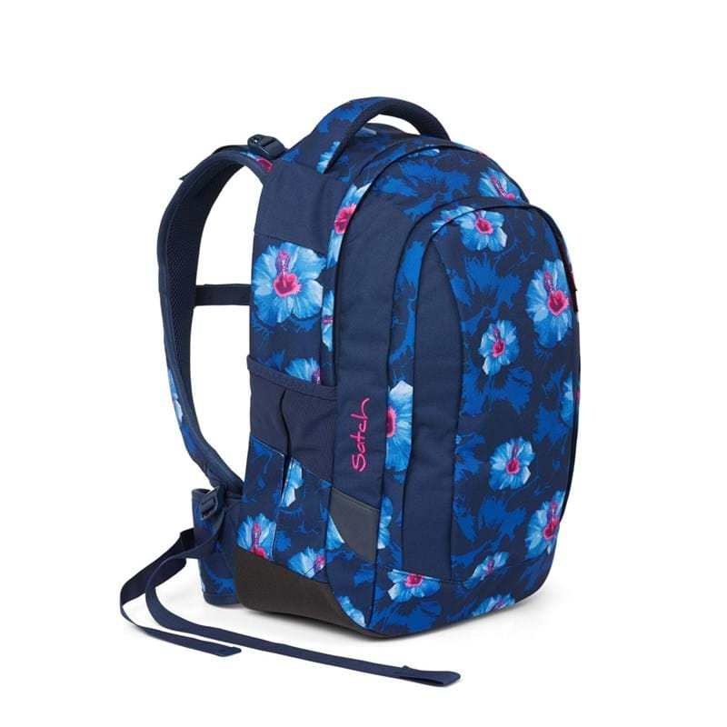 Satch Skoletaske Sleek Blå m/blomst 2