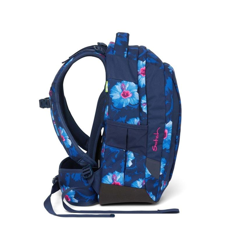 Satch Skoletaske Sleek Blå m/blomst 3