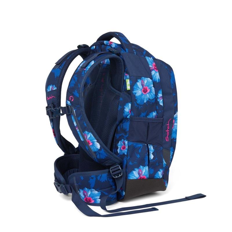 Satch Skoletaske Sleek Blå m/blomst 4