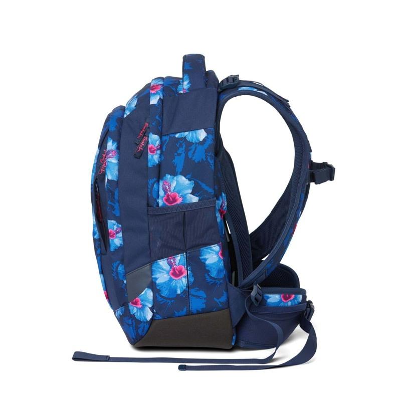 Satch Skoletaske Sleek Blå m/blomst 6