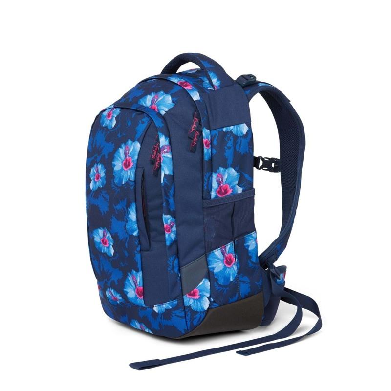 Satch Skoletaske Sleek Blå m/blomst 7