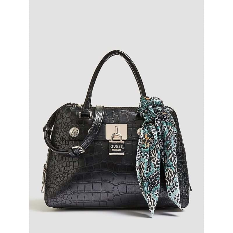 Guess Håndtaske Annemarie Dome Sort 1