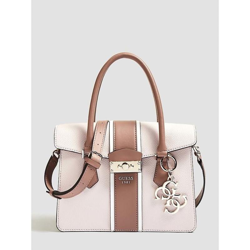 Guess Håndtaske La Hip Pink/hvid 1