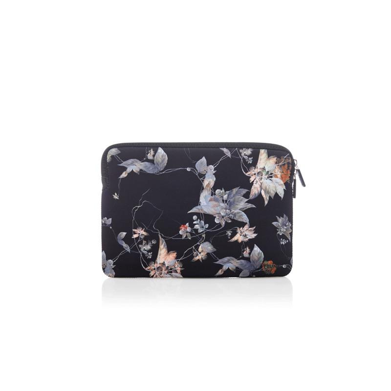 Trunk Sleeve MacBook Pro Air Sort/med blomster 1