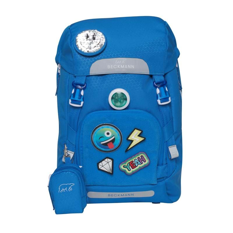 Beckmann Skoletaske Classic Patch blå med patch 1