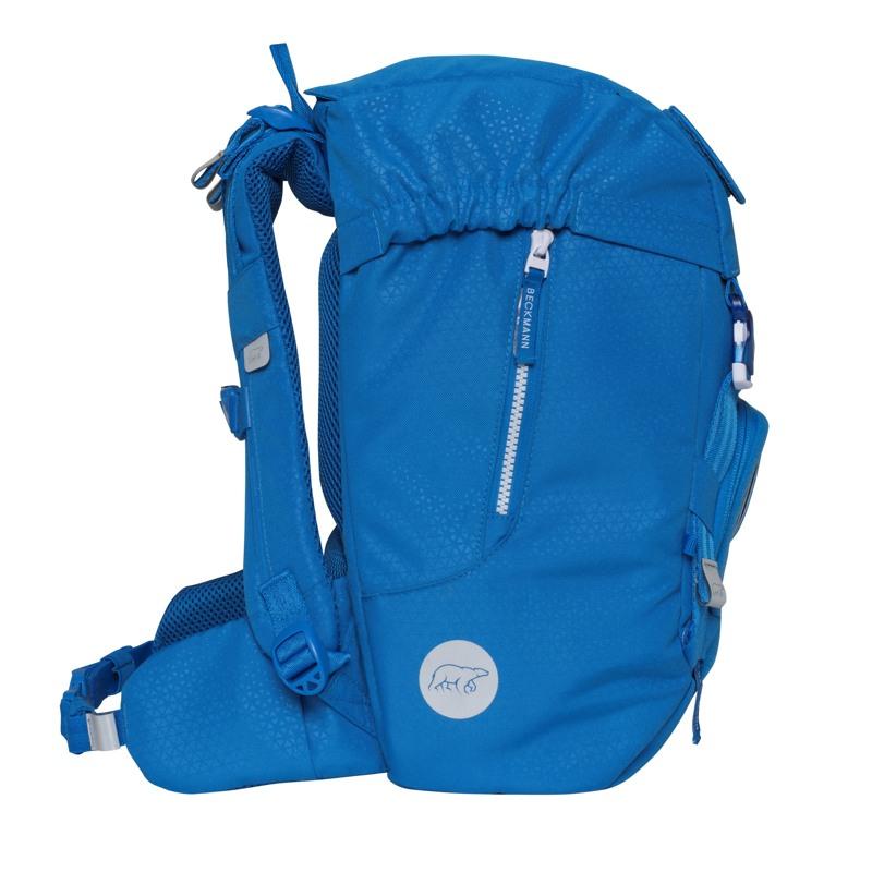 Beckmann Skoletaske Classic Patch blå med patch 3