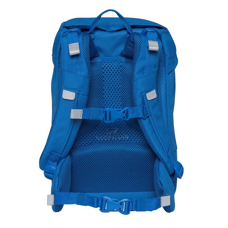 Beckmann Skoletaske Classic Patch blå med patch 4