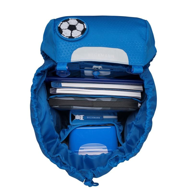 Beckmann Skoletaske Classic Patch blå med patch 5
