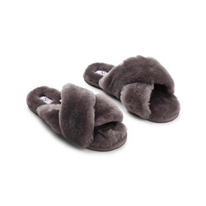 NATURES Collection Slippers Cross Grå