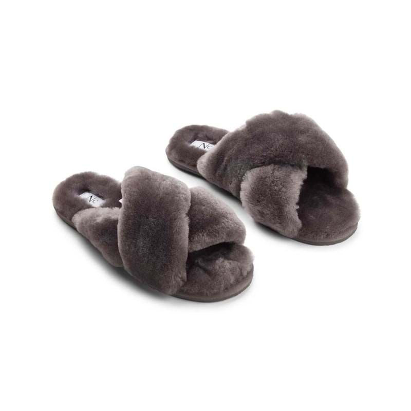 NATURES Collection Slippers Cross Grå 1