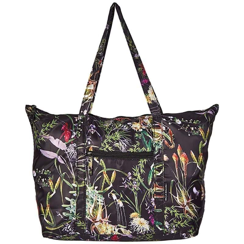 Bella Ballou Shopper Asian Garden Sort/med blomster 1