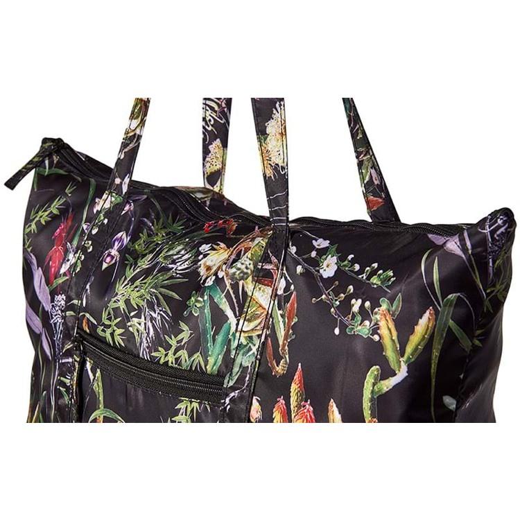 Bella Ballou Shopper Asian Garden Sort/med blomster 2