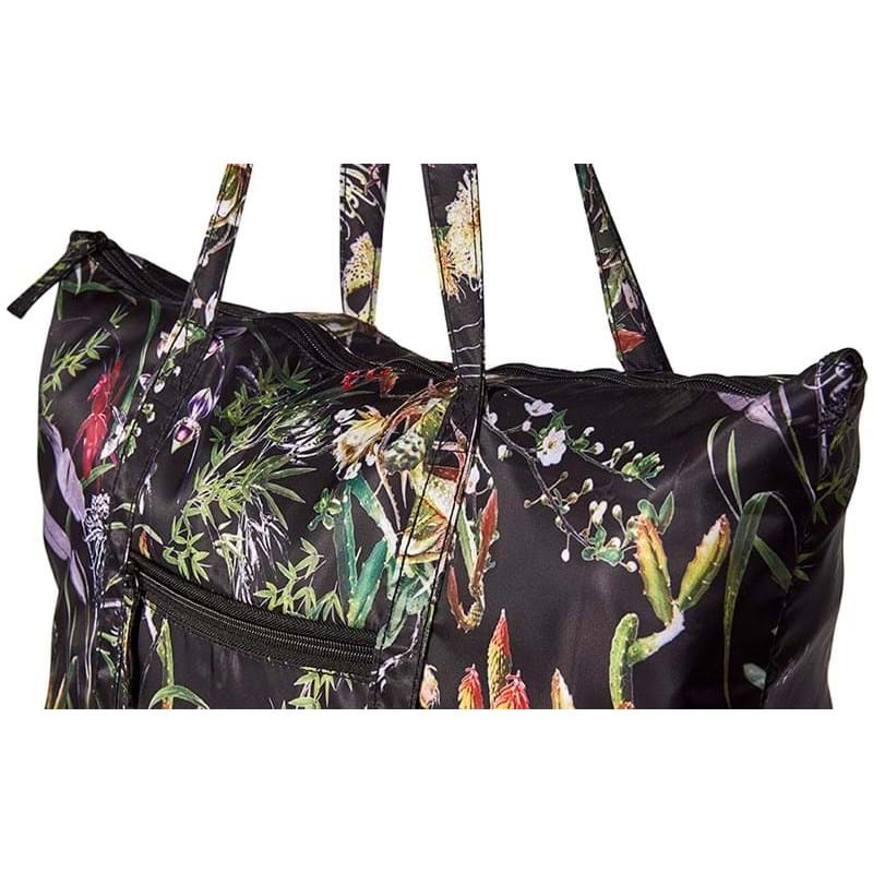 Bella Ballou Shopper Asian Garden Sort/med blomster 2