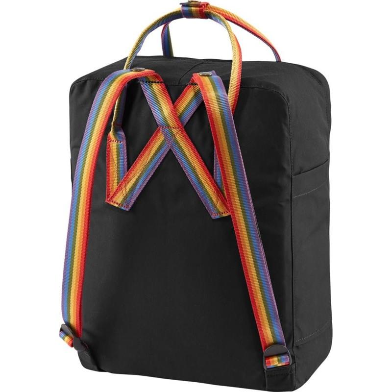 Fjällräven Rygsæk Kånken Rainbow Sort m/mønster 3
