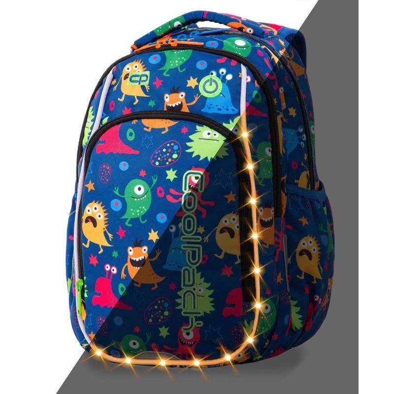 Coolpack Skoletaskesæt Strike S Blå m/ gul 1