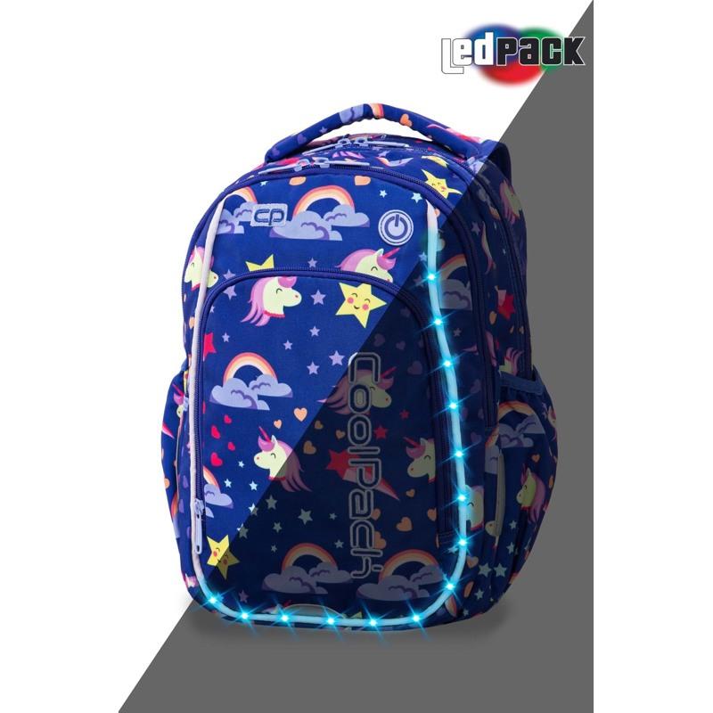 Coolpack Skoletaskesæt Strike S Blå m/stjerner 1