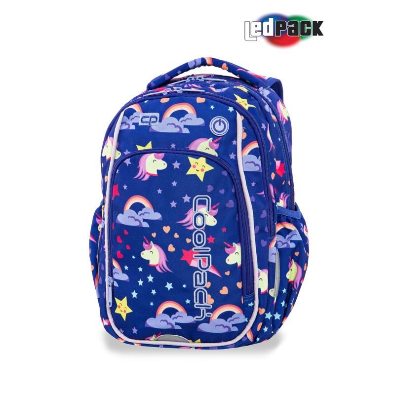 Coolpack Skoletaskesæt Strike S Blå m/stjerner 2