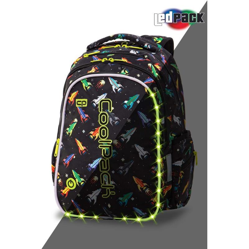 Coolpack Skoletaskesæt Joy M Sort mønster 1