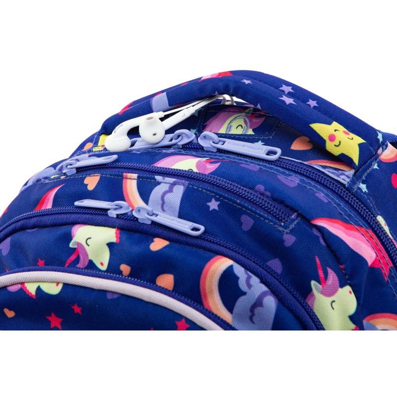 Coolpack Skoletaskesæt Joy M Blå m/stjerner 3