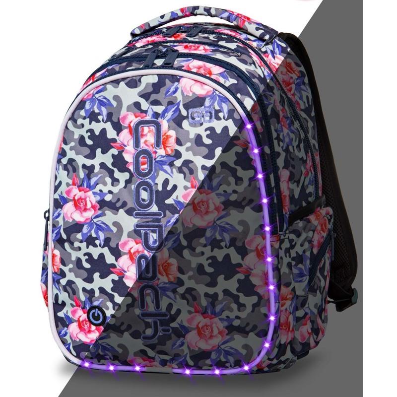 Coolpack Skoletaskesæt Joy L Sort m/mønster 1