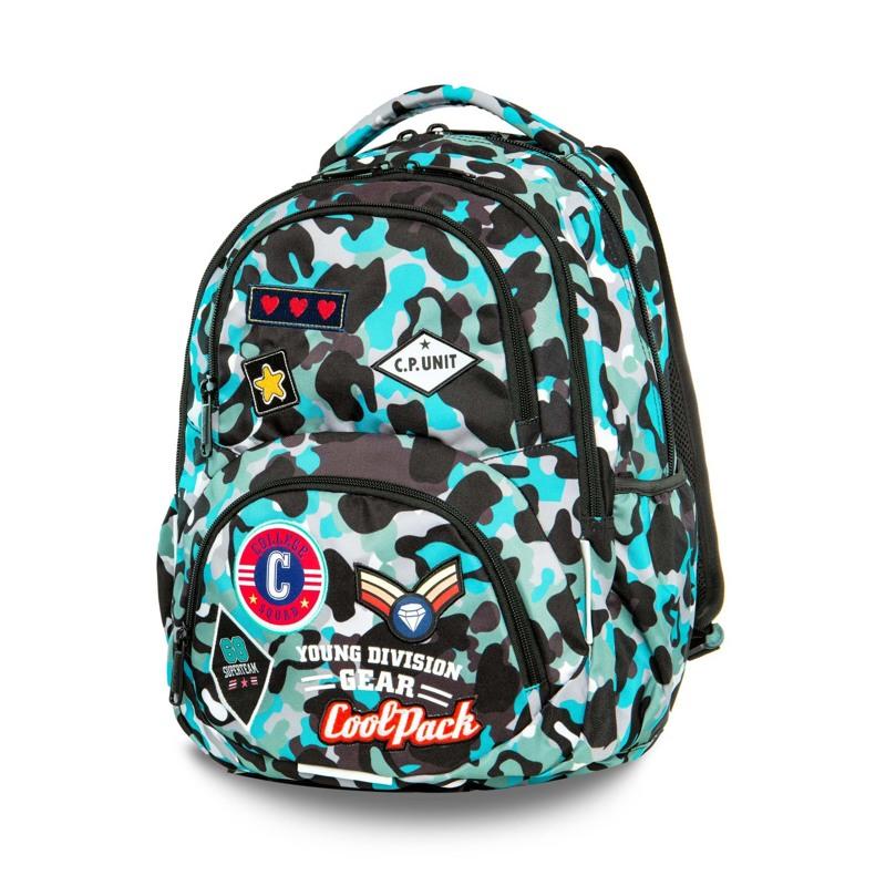 Coolpack Skoletaskesæt Dart Blå camuflage 1