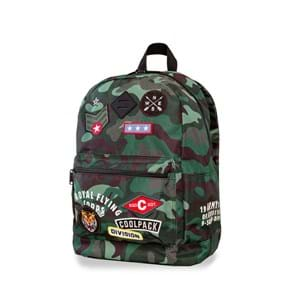 Coolpack Skoletaskesæt Cross Grøn Camou 1