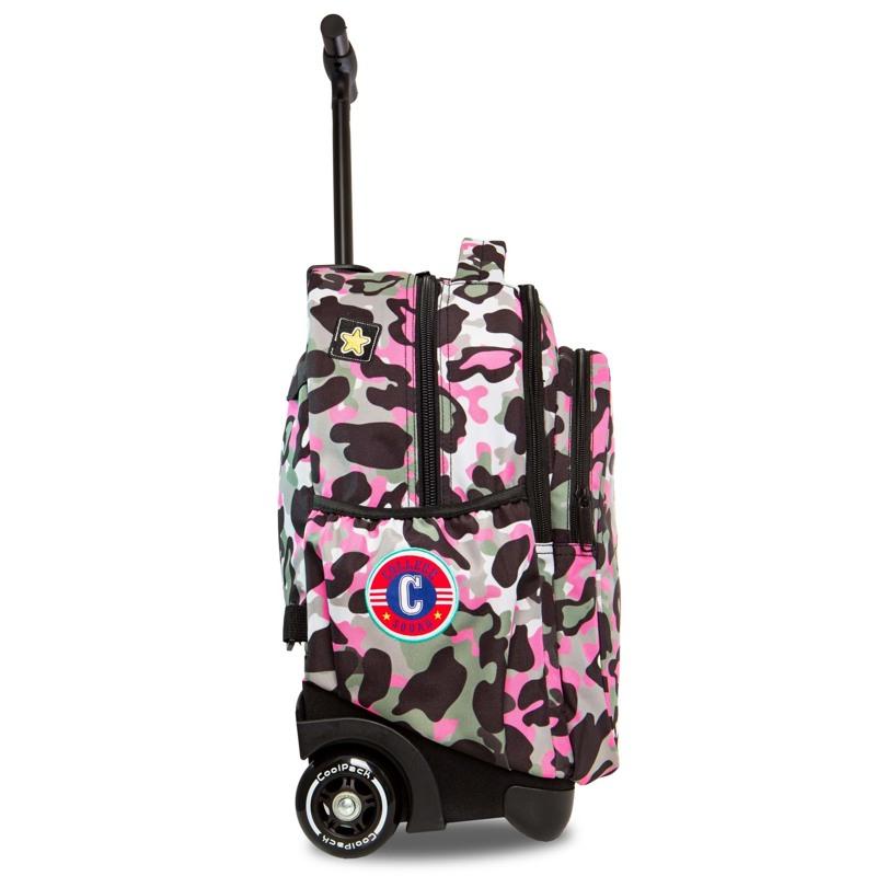 Coolpack Trolley Rygsæk Pink mønstret 1