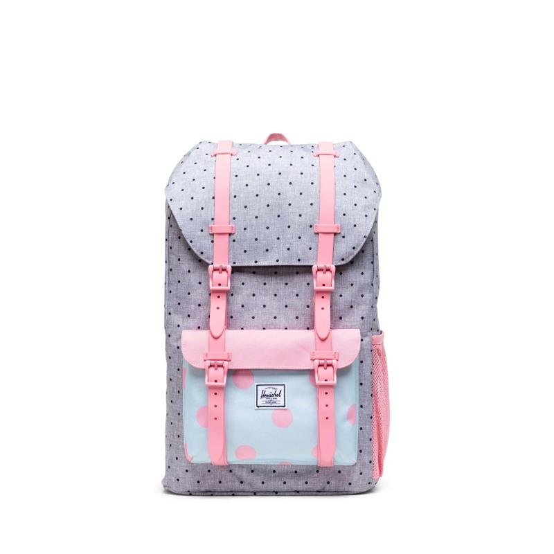 Herschel Skoletaske Little America Yout Sort/grå/pink 1
