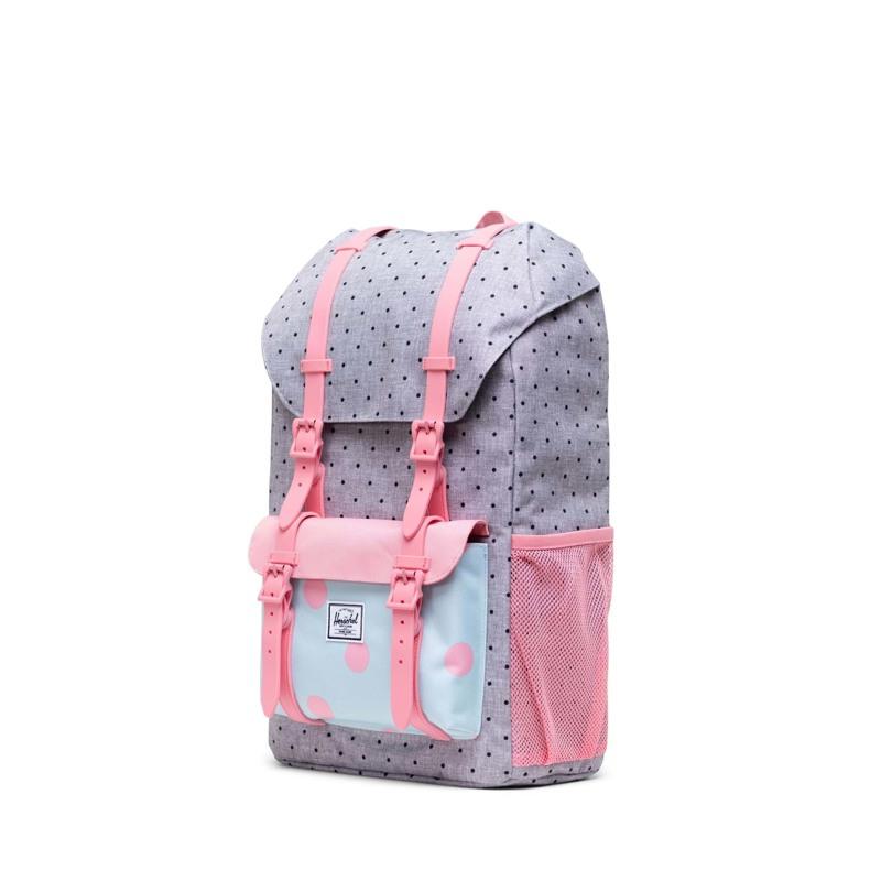 Herschel Skoletaske Little America Yout Sort/grå/pink 3