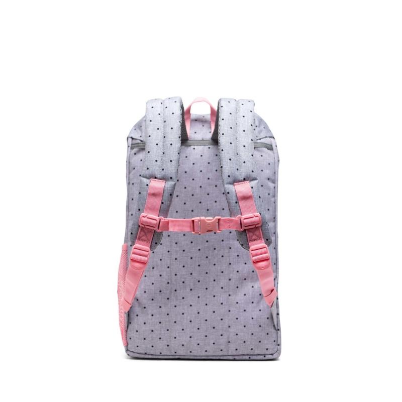 Herschel Skoletaske Little America Yout Sort/grå/pink 4