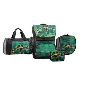 LEGO Skoletaske Maxi Ninjago Grøn mønster