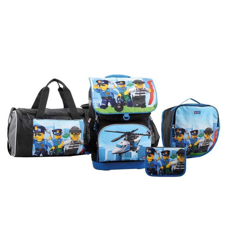 LEGO Skoletaske Optimo City Blå/mønster 1
