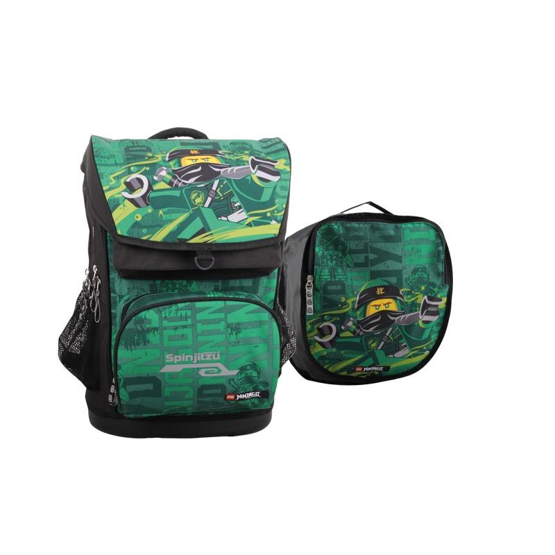 LEGO Skoletaske Maxi Ninjago Grøn mønster 1