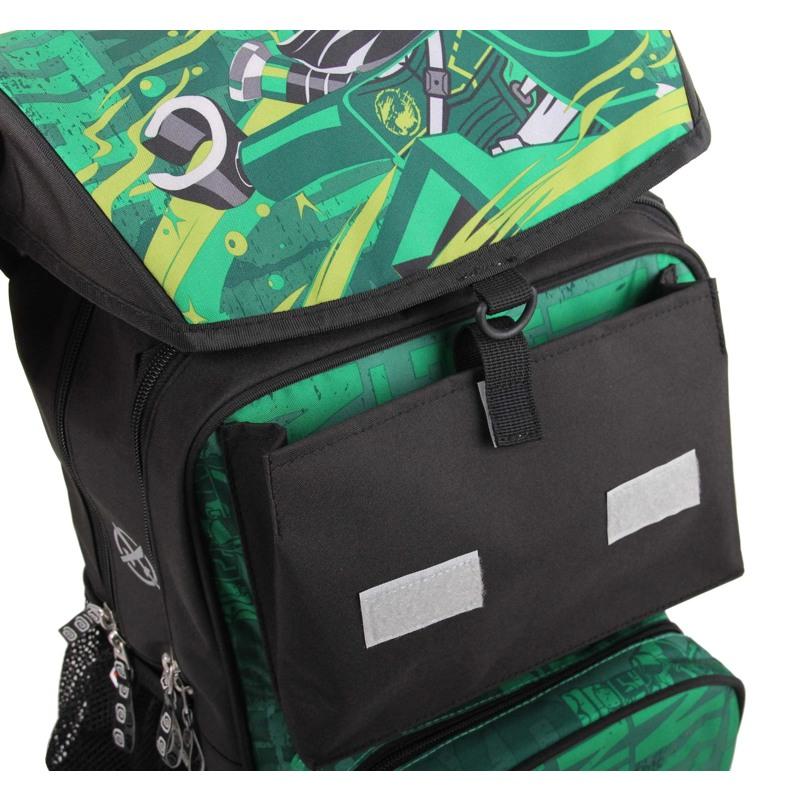 LEGO Skoletaske Maxi Ninjago Grøn mønster 9