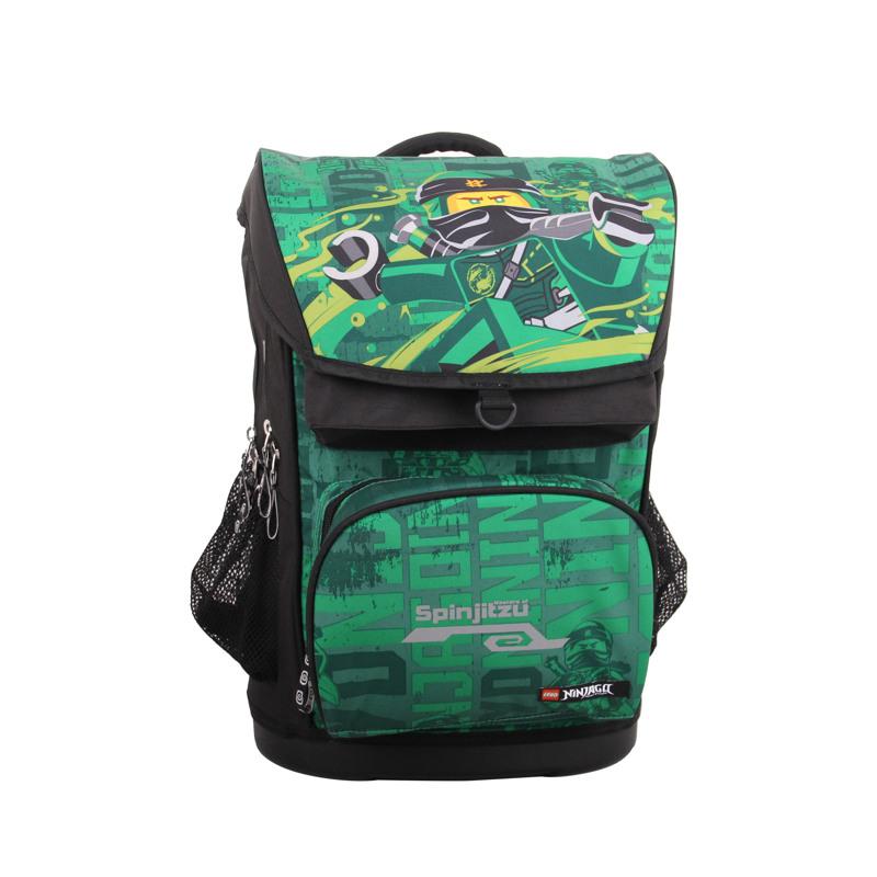 LEGO Skoletaske Maxi Ninjago Grøn mønster 2
