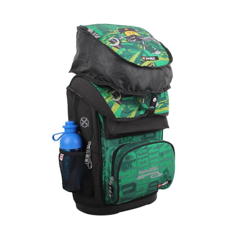 LEGO Skoletaske Maxi Ninjago Grøn mønster 3