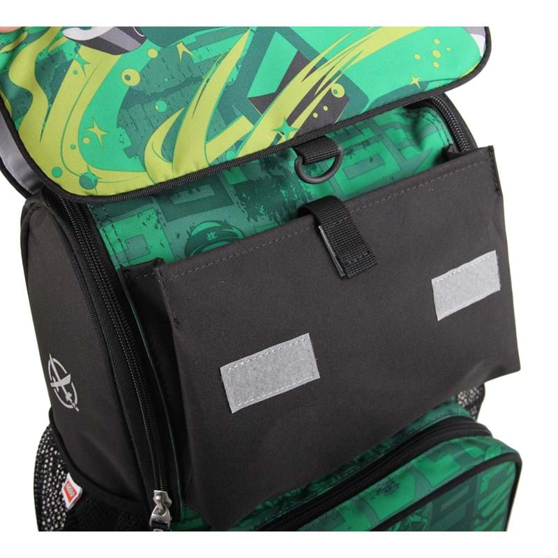 LEGO Skoletaske Optimo Ninjago Grøn mønster 8