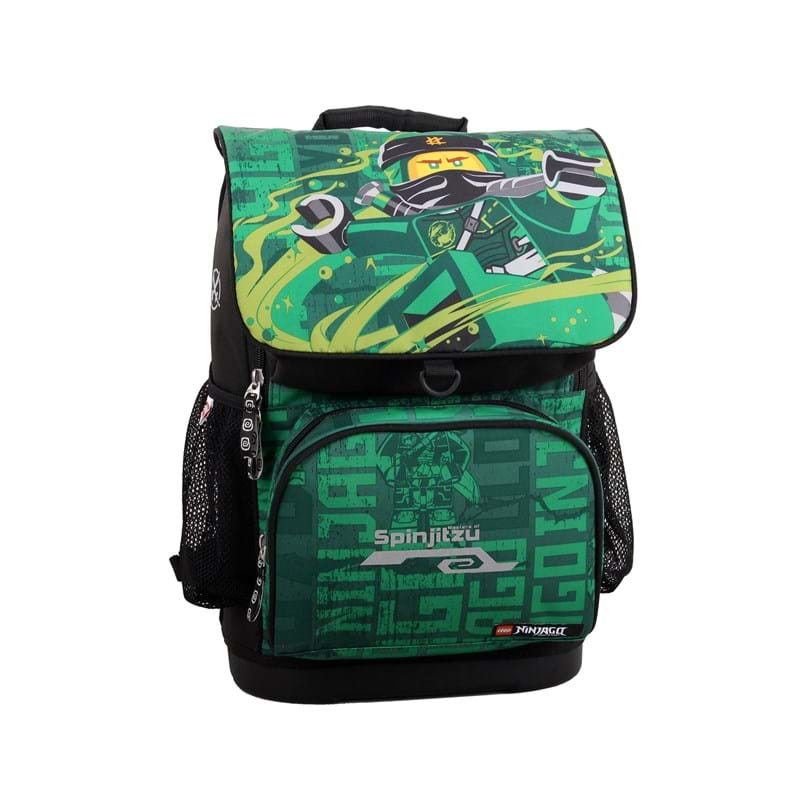 LEGO Skoletaske Optimo Ninjago Grøn mønster 2