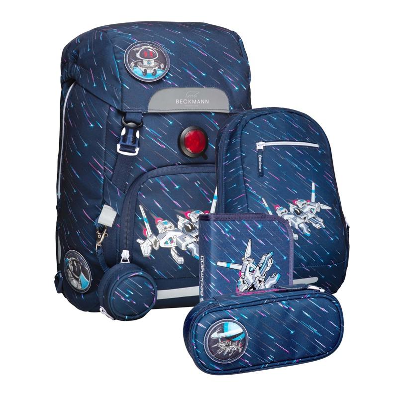 Beckmann Skoletaskesæt Space Blå/mønster 1