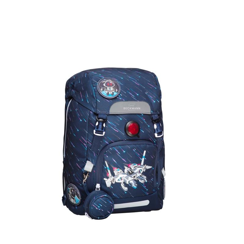 Beckmann Skoletaskesæt Space Blå/mønster 2