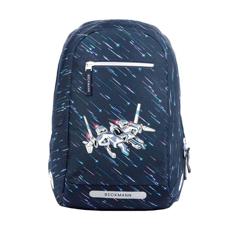 Beckmann Skoletaskesæt Space Blå/mønster 3
